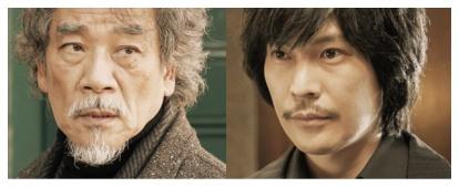 『罪の声』で曽根達雄を演じる宇崎竜童と川口覚