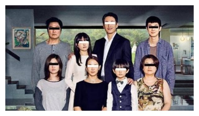 映画「パラサイト半地下の家族」の一家の画像