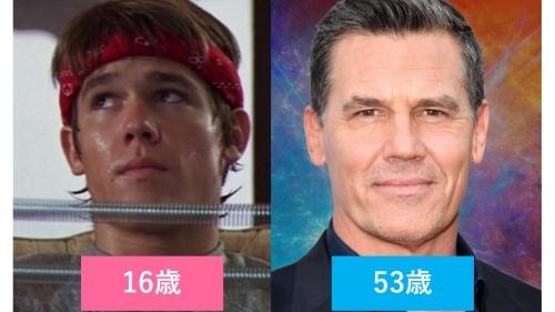 映画『グーニーズ』でブランド役のジョシュ・ブローリンの10代と現在の比較画像