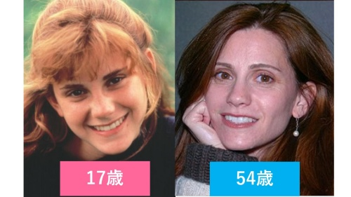 映画『グーニーズ』でアンディ役のケリー・グリーンの10代と現在の比較画像