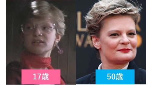 映画『グーニーズ』でステフ役のマーサ・プリンプトンの10代と現在の比較画像